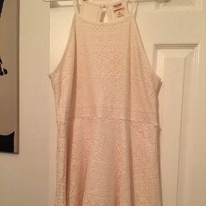 Woven cream halter dress